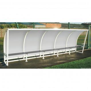 Abrigo lateral em aço lado transparente 1,60m 2,50m Sporti France