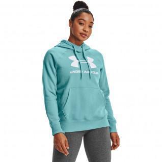 Capuz feminino Under Armour avec logo Rival Fleece