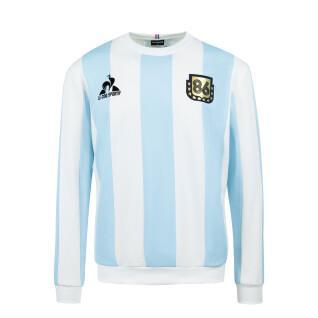 Sweatshirt Le coq sportif retro Argentine 1986 Collection Legends Maradona