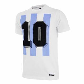 T-shirt número 10 Argentine retro