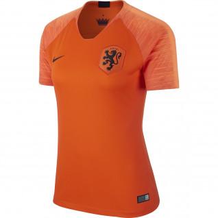 Camisa da casa da mulher Pays-Bas 2018
